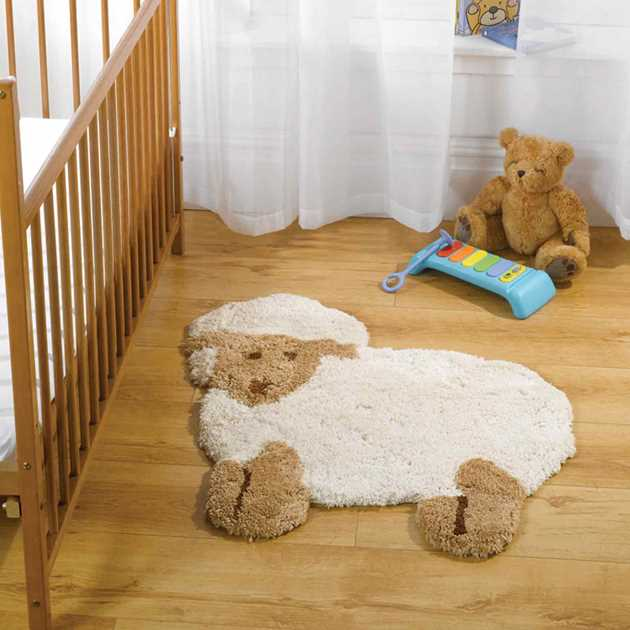 Baby Draaien Rug Naar Buik: Nursery Little Lamb Rugs In Natural