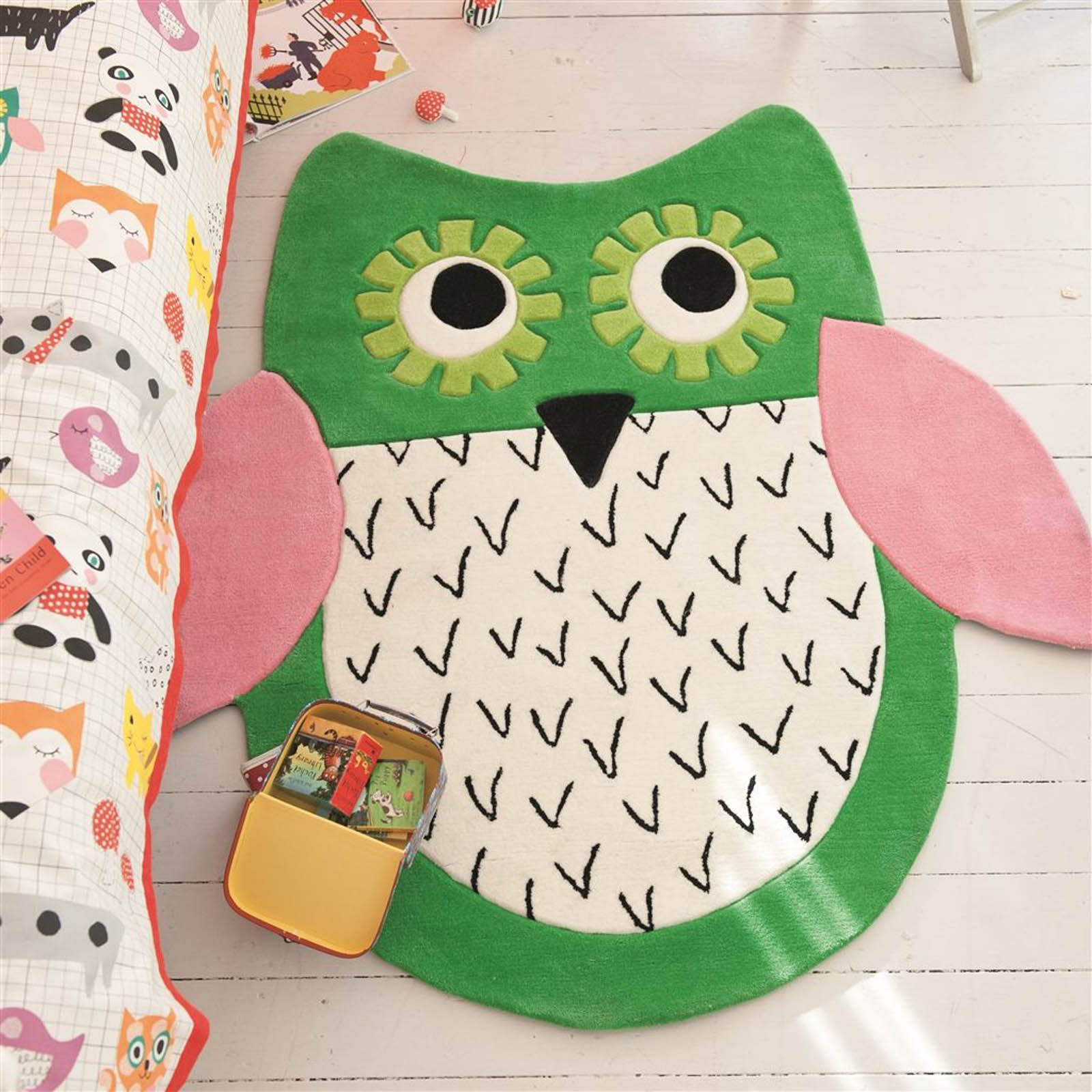 Little Owl Emerald Rug by Designers Guild