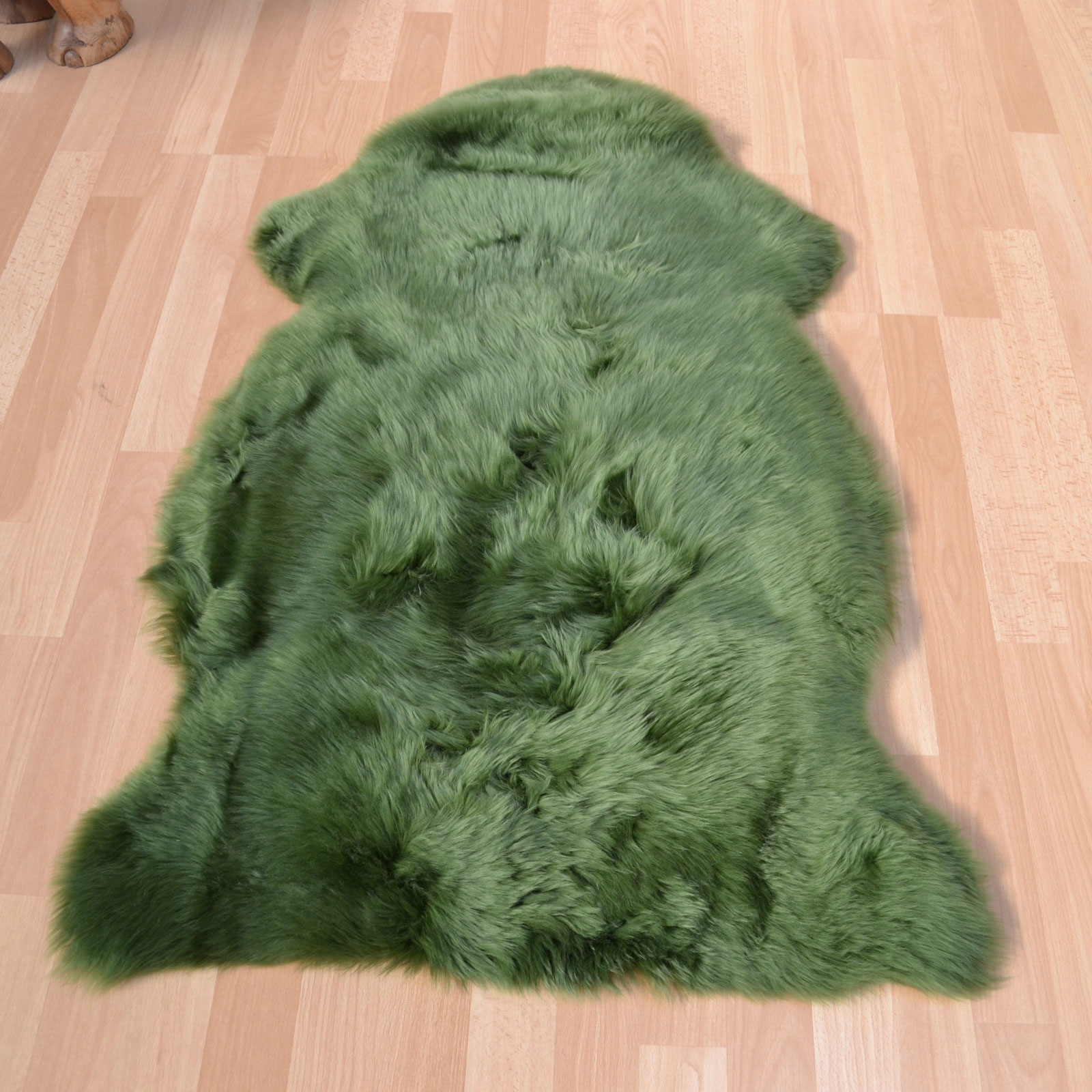 Bowron Sheepskin Rugs in Meadow Green