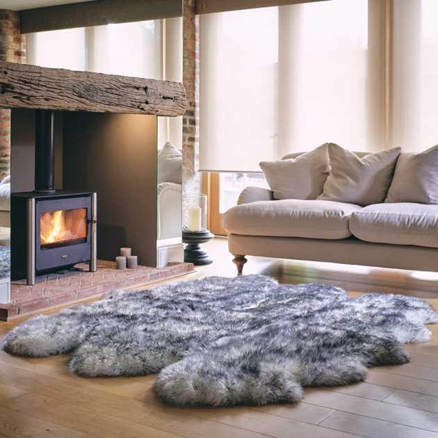 Sheepskin Rug Look: Bowron Sheepskin Rugs In Twilight