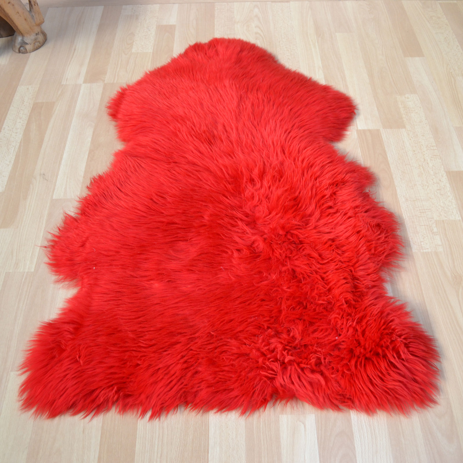 Bowron Sheepskin Rugs in Wildfire