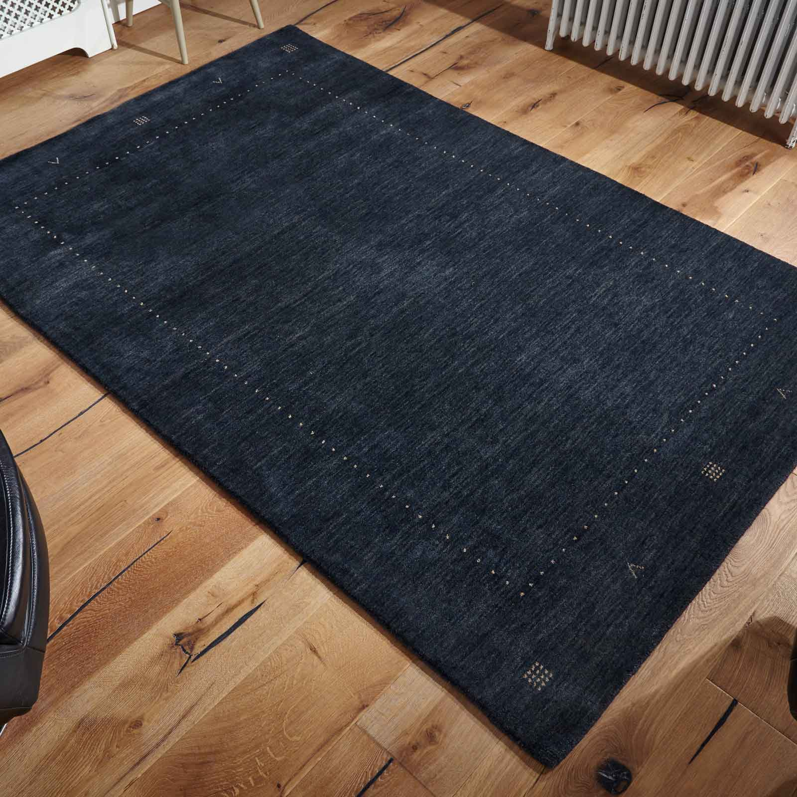 Loriana Rugs in Charcoal Grey