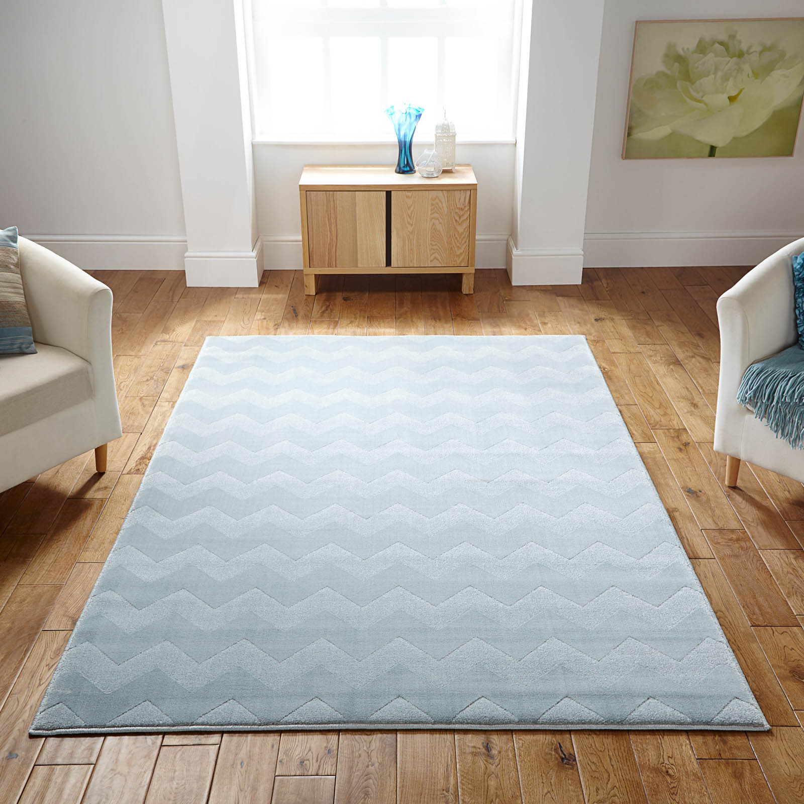 Louvre Rugs 1030H in Light Blue