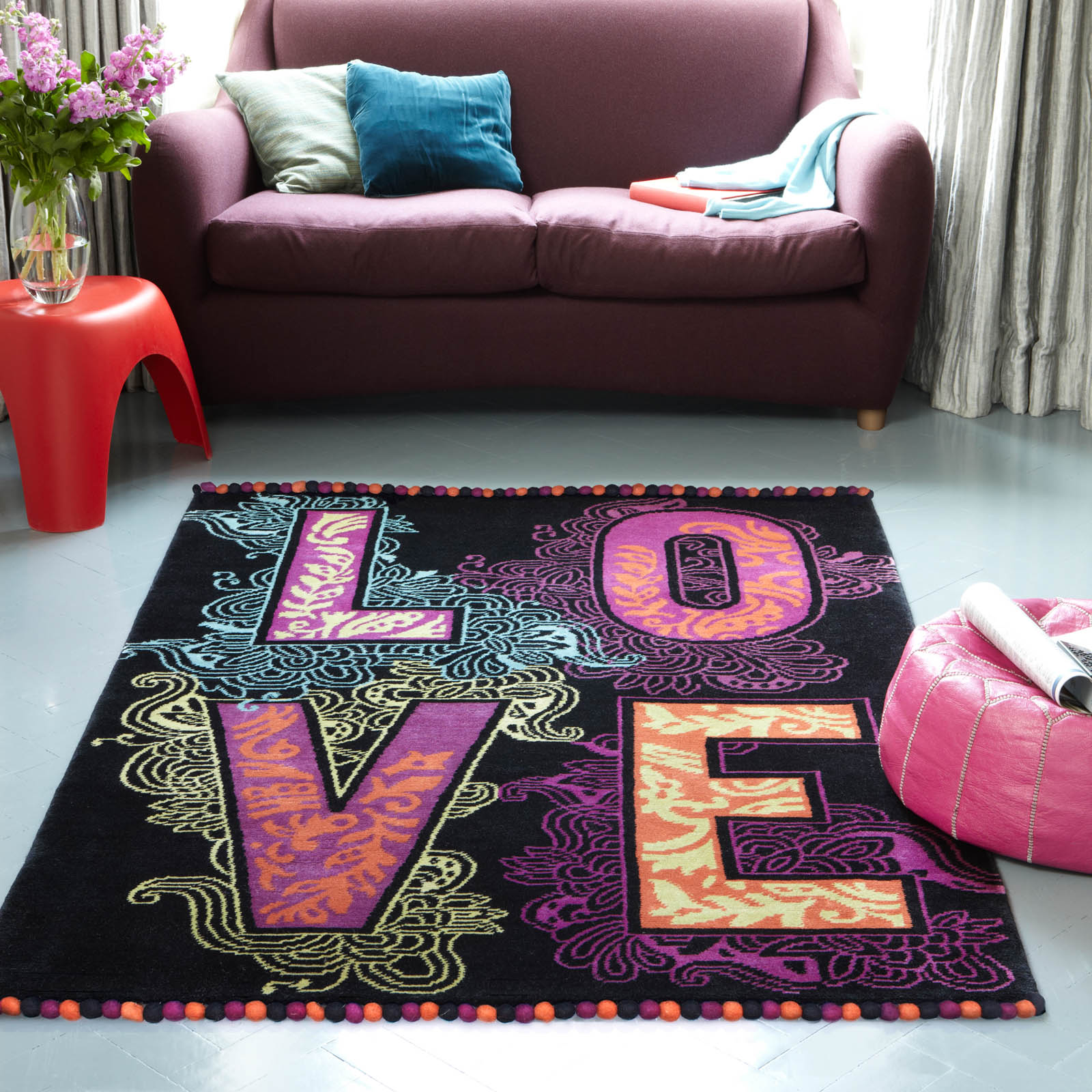 Plantation Love Rug - Hand Knotted Pure Wool