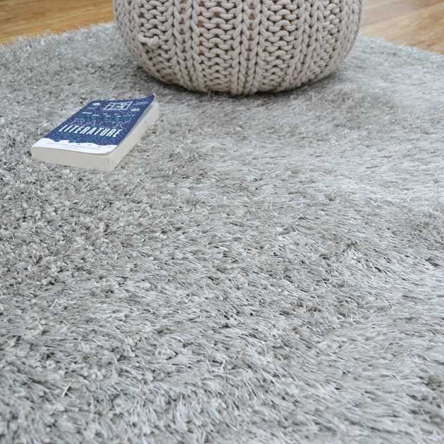 Love Shaggy Rugs in Silver