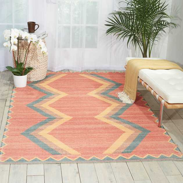 Madera rugs MAD02 in Tangerine by Nourison