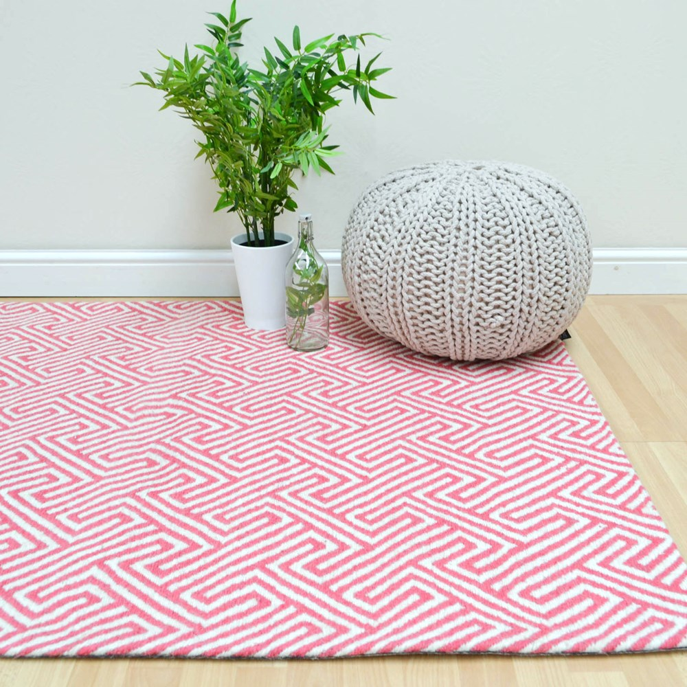 Maisey Rugs MAI01 Pink Buy Online From The Rug Seller Uk