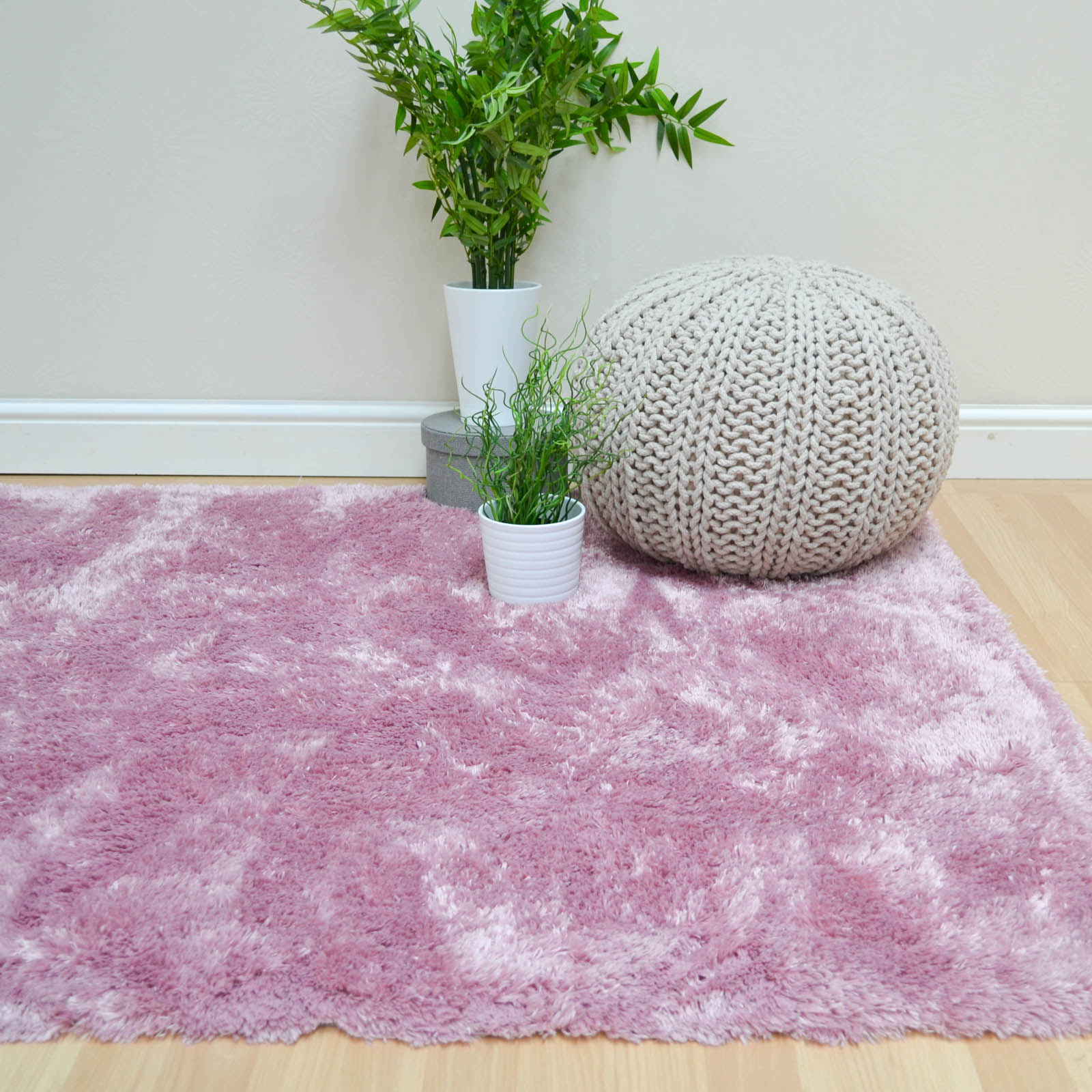 Plantation Marshmallow Rugs MAR02 in Pink