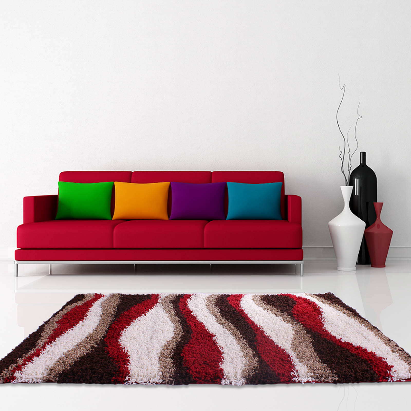 Mont Blanc Rugs MB09 in Red