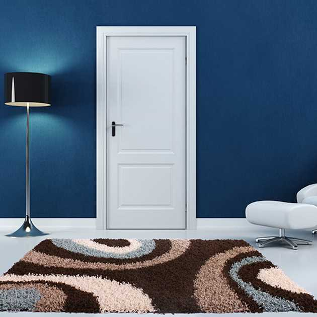 Mont Blanc Rugs MB13 in Chocolate Blue