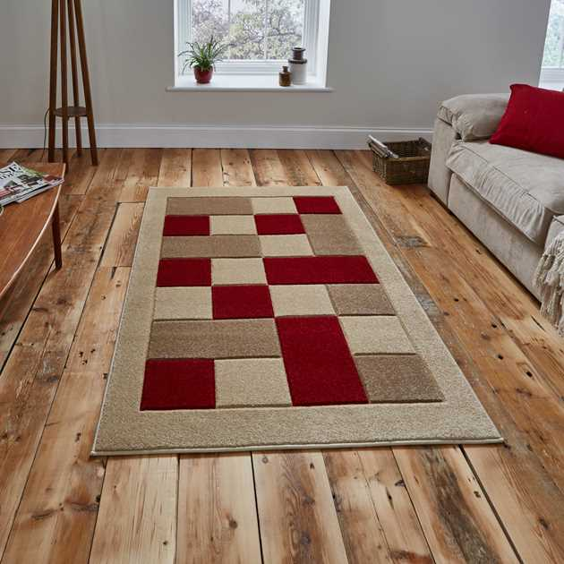 Matrix Rugs MT 04 in Beige Red