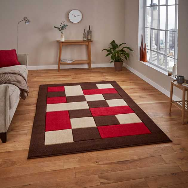 Matrix Rugs MT 04 in Brown Red