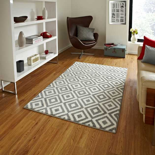 Brooklyn Rugs MT 89 in Grey and White