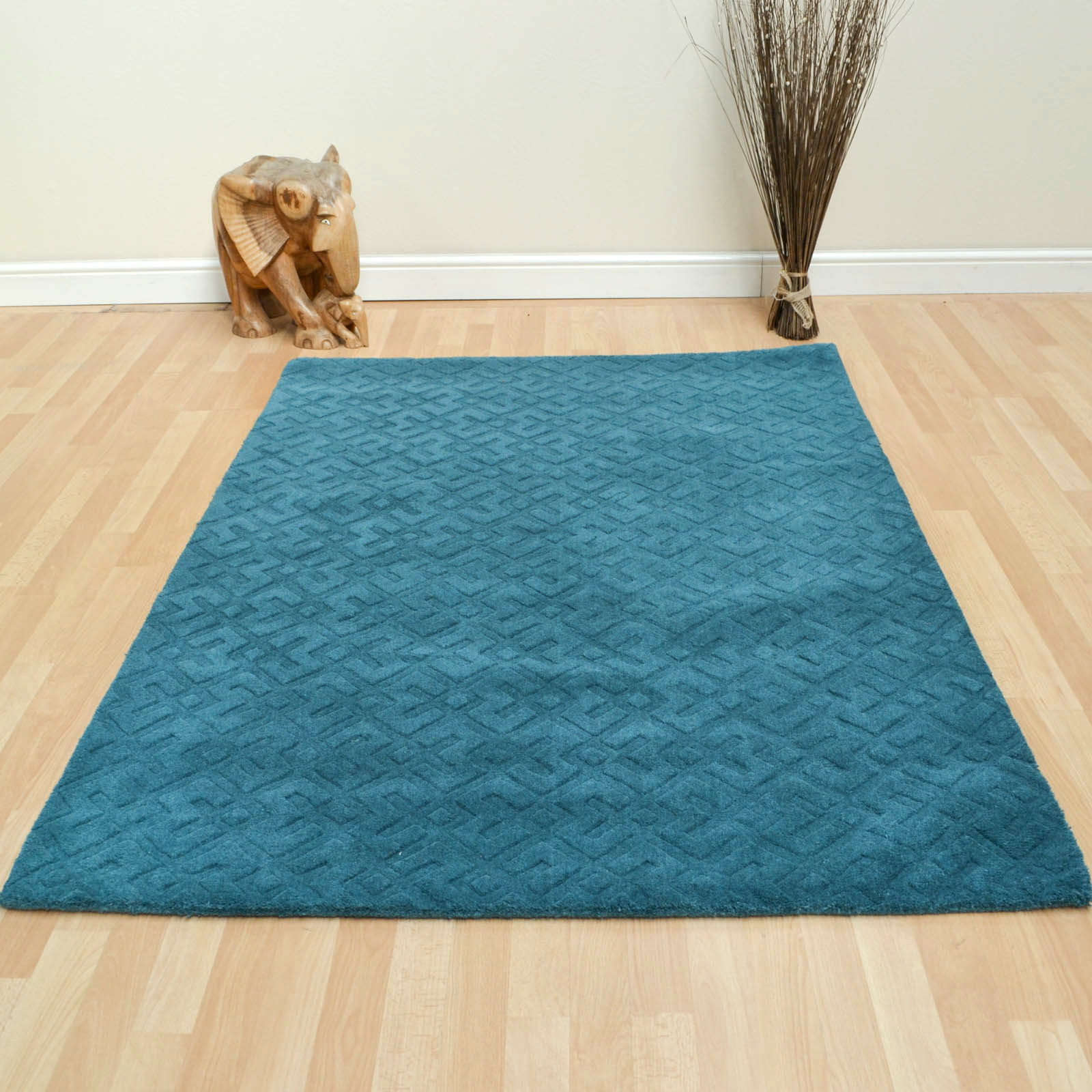 Manga Rugs in Teal