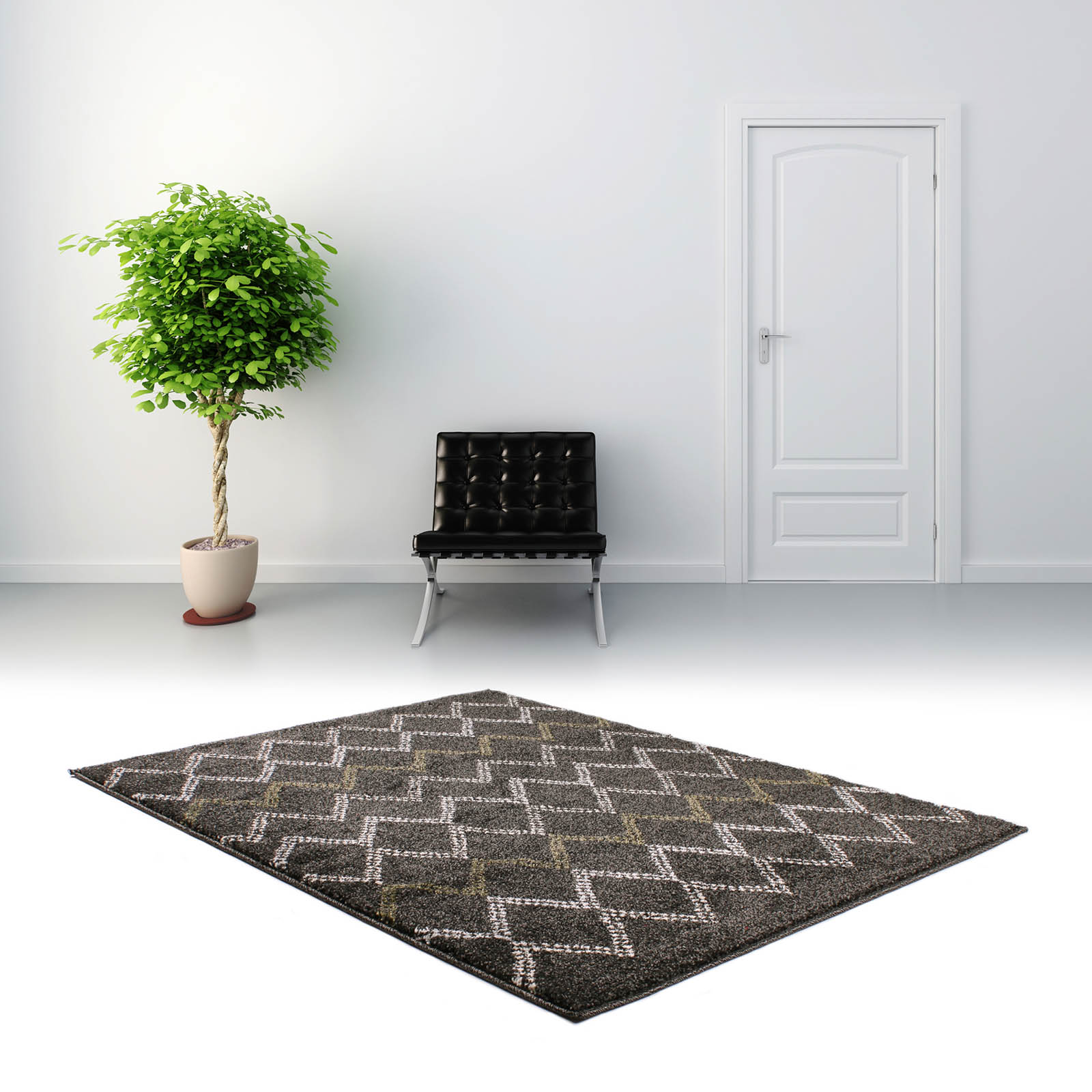 Marrakesh Rugs 2651 in Black and Green