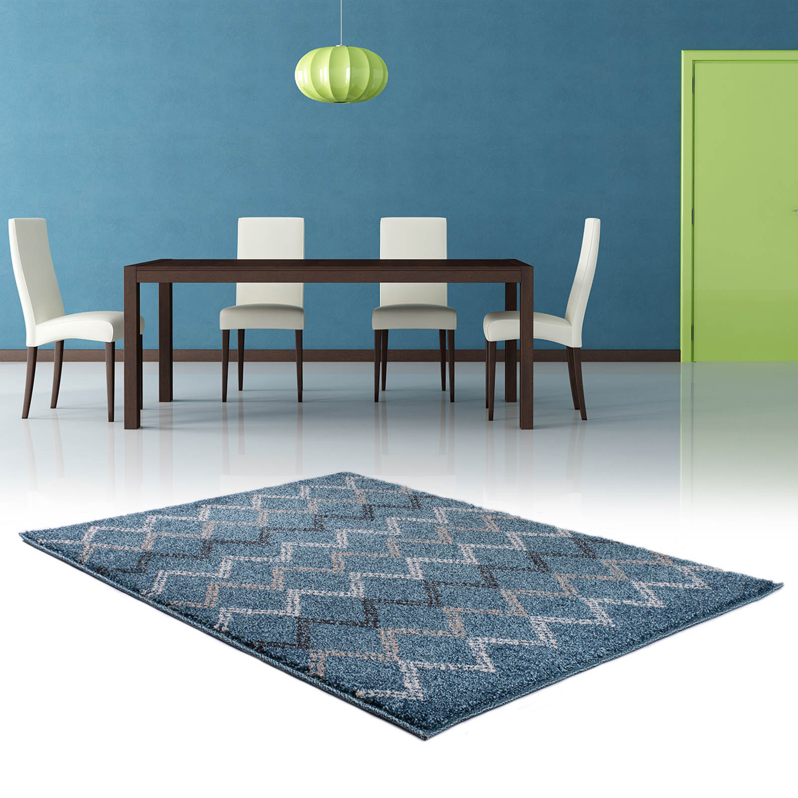 Marrakesh Rugs 2651 in Blue and Brown