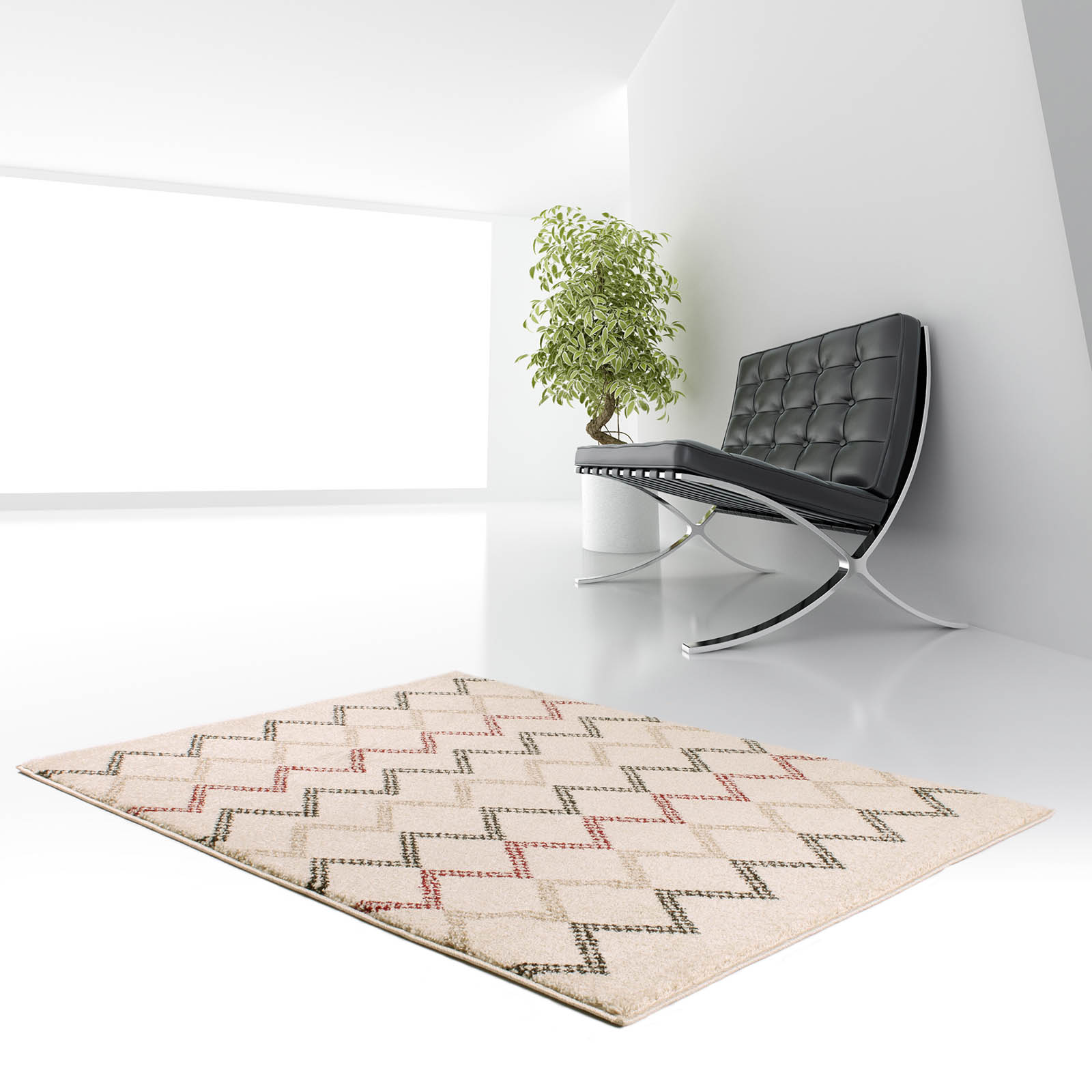 Marrakesh Rugs 2651 in Bone and Red