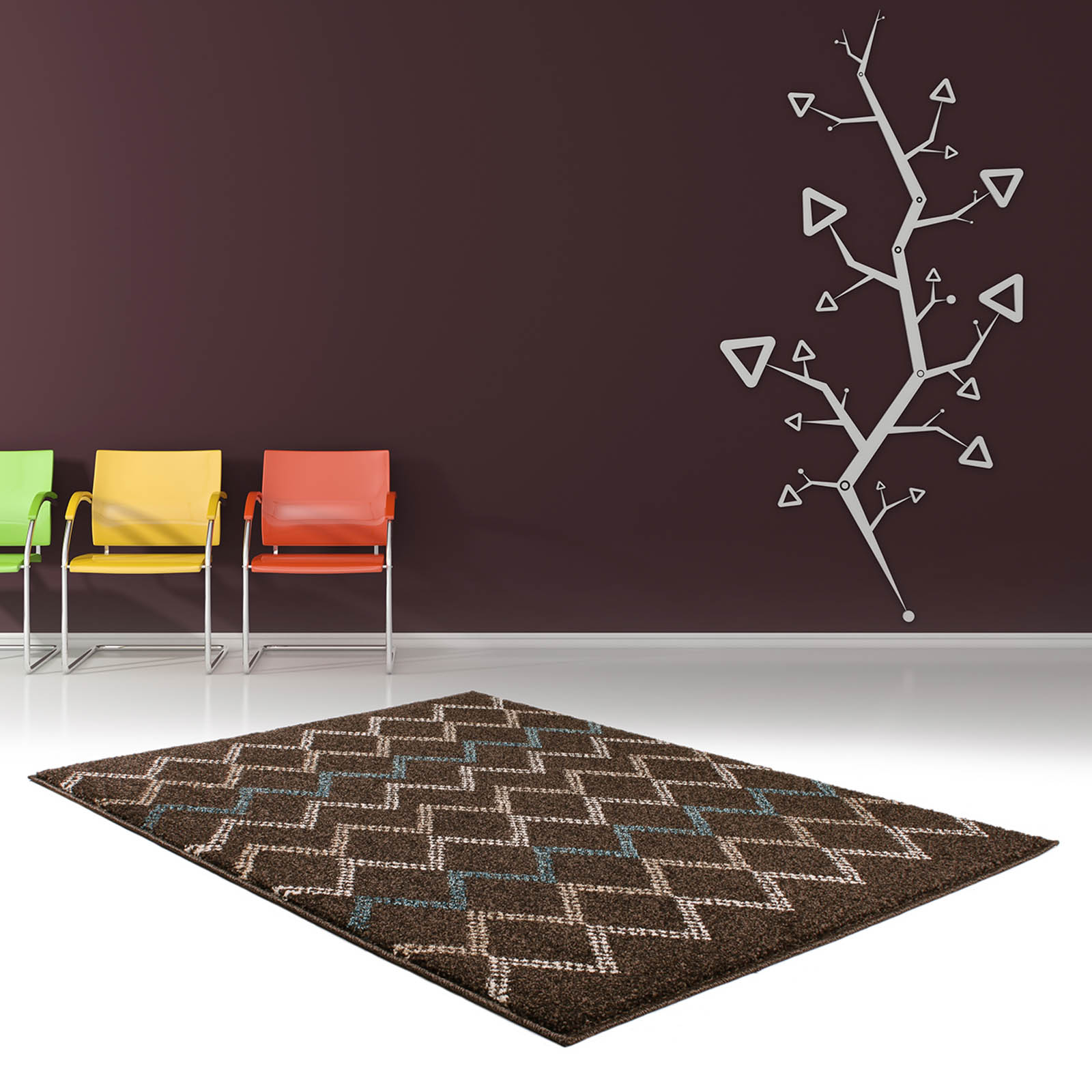 Marrakesh Rugs 2651 in Brown and Turquoise