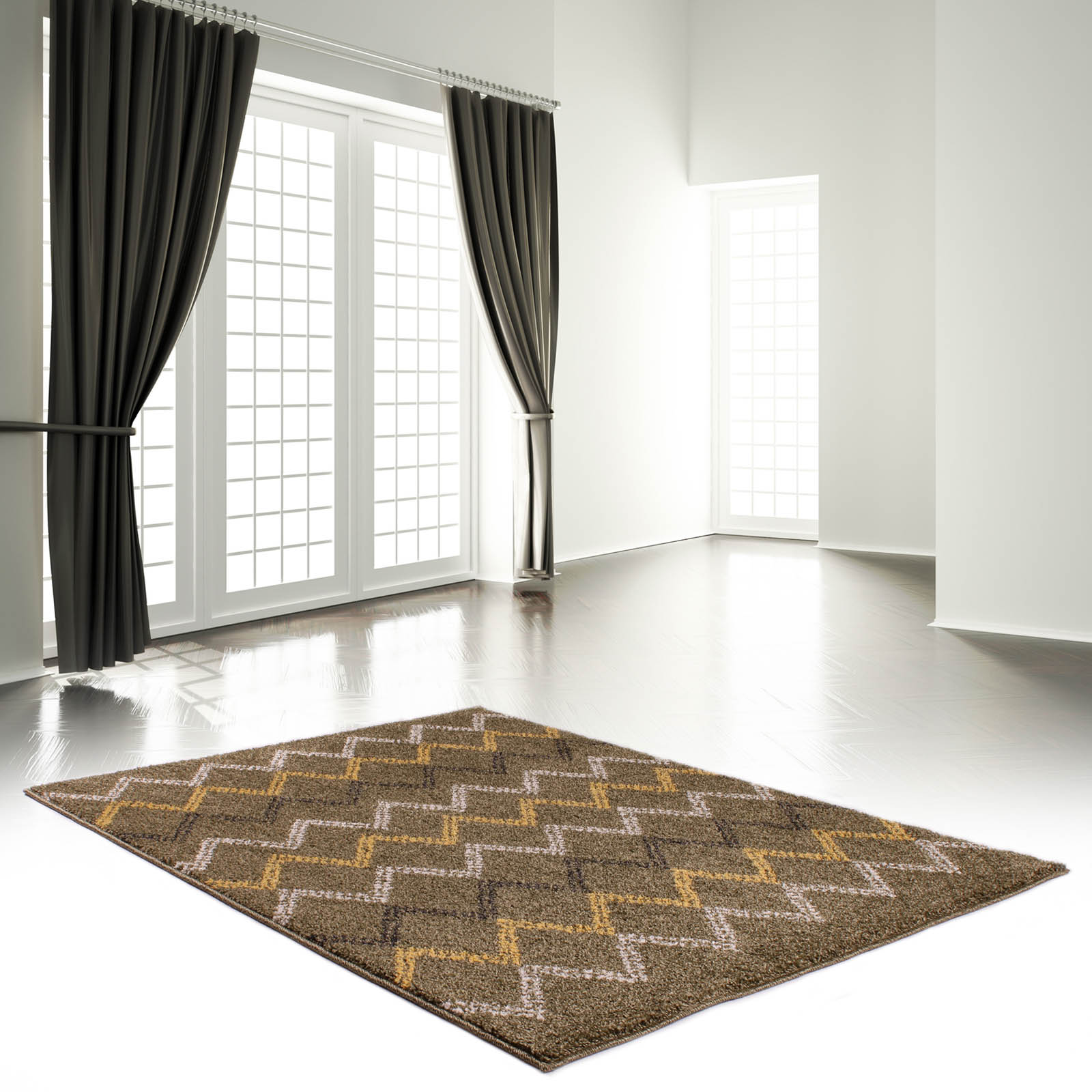 Marrakesh Rugs 2651 in Green and Brown