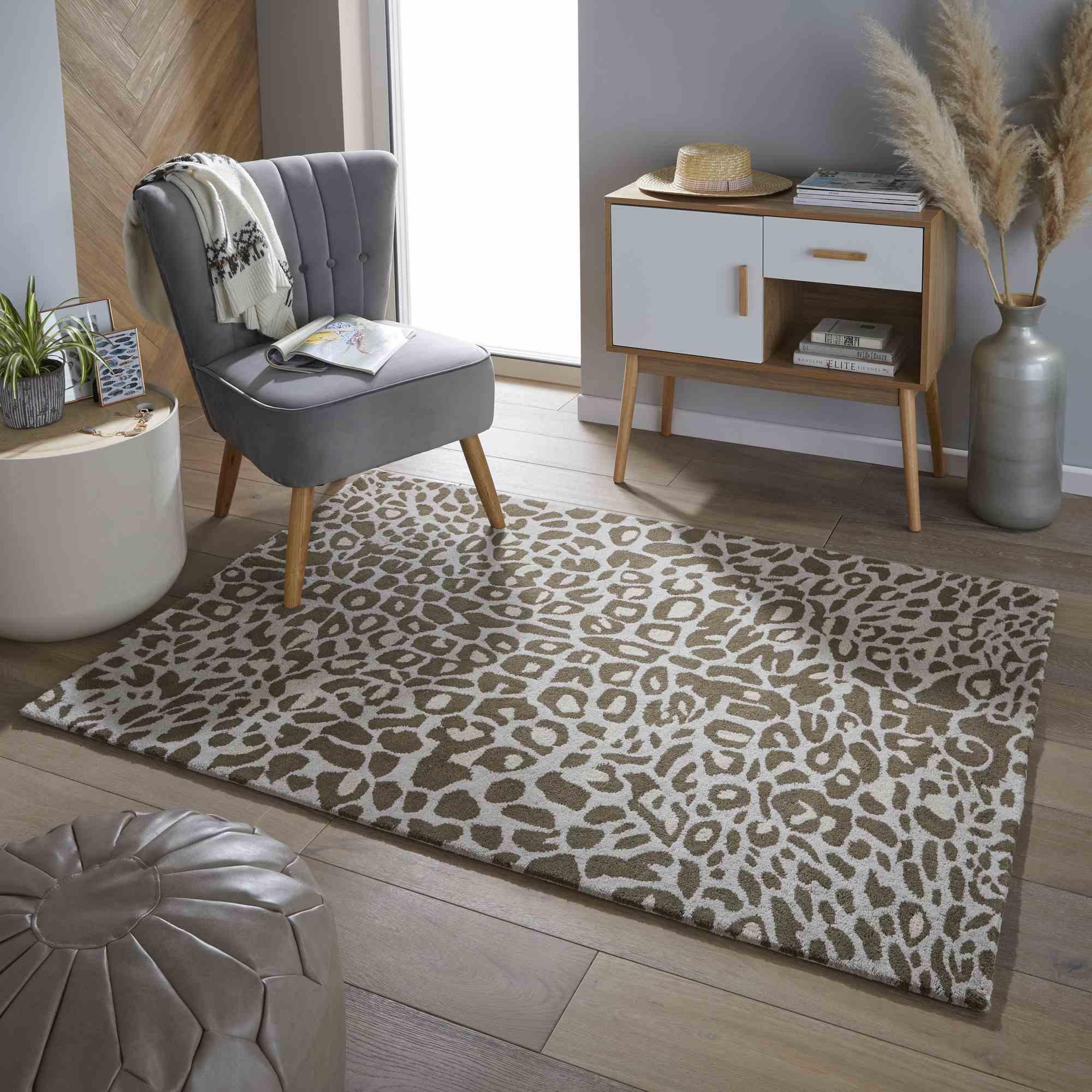Stark Leopard Print Rug: Masai Leopard Print Wool Rugs