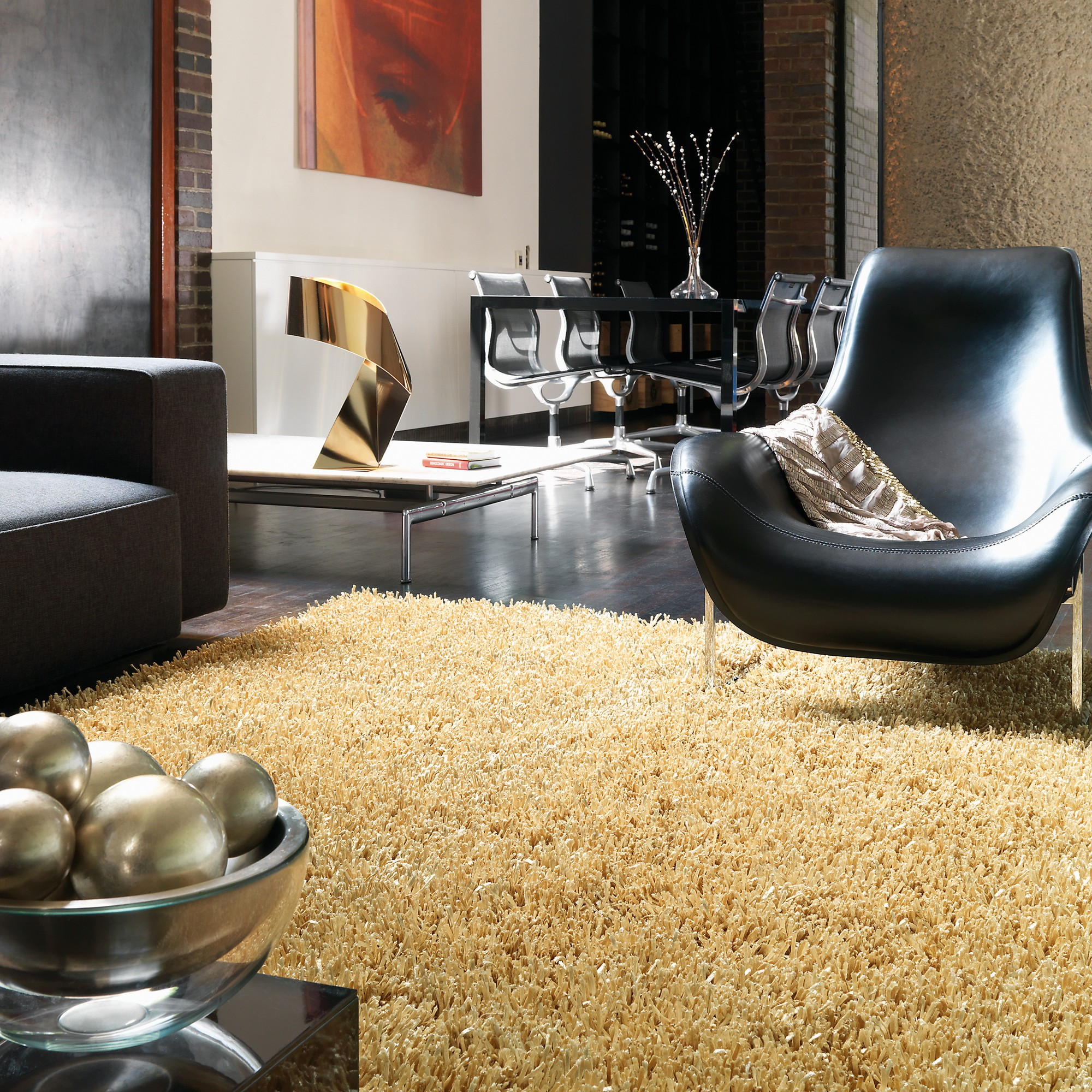 Metallica Rugs in Gold