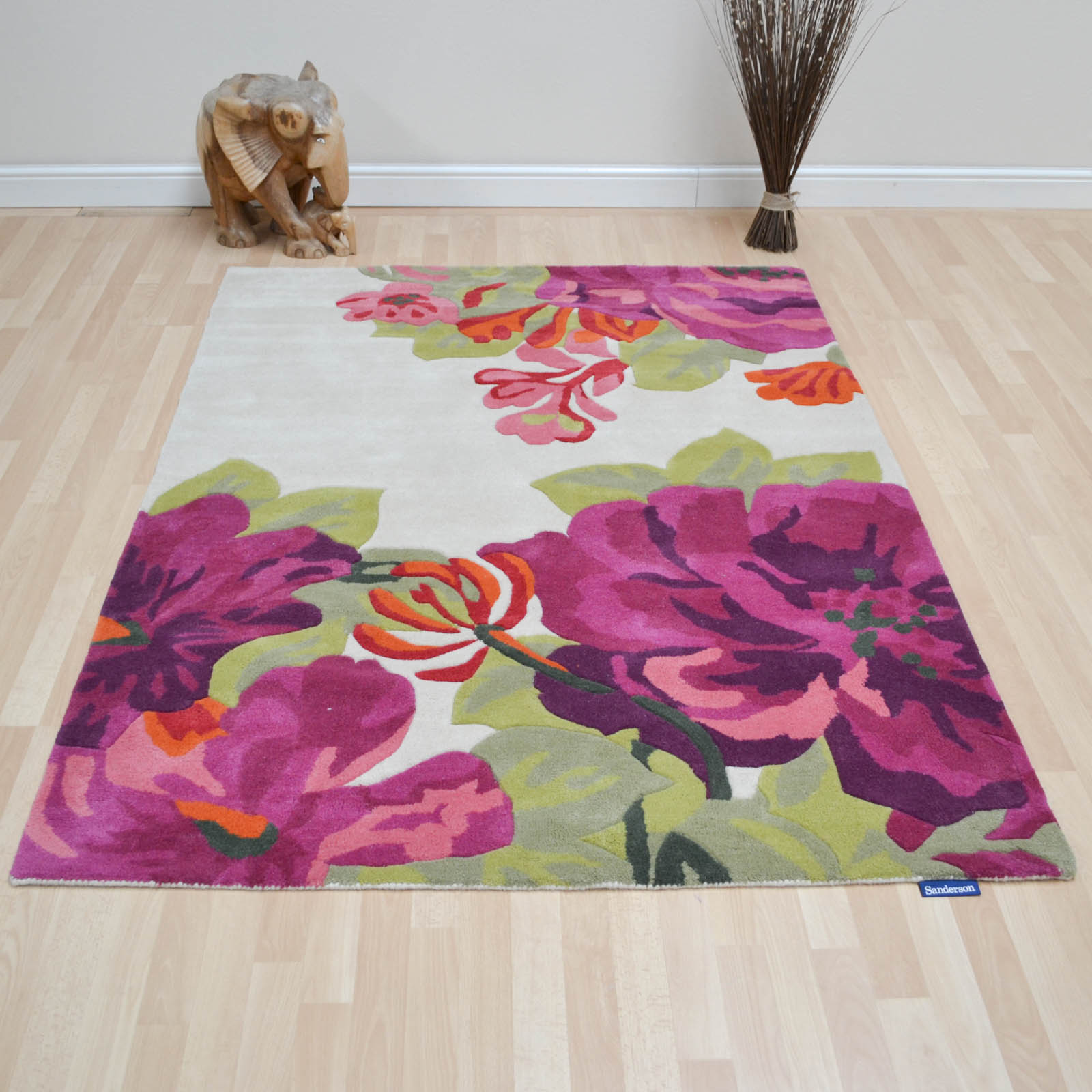 Sanderson Midsummer Rose Rugs 45600 Crimson