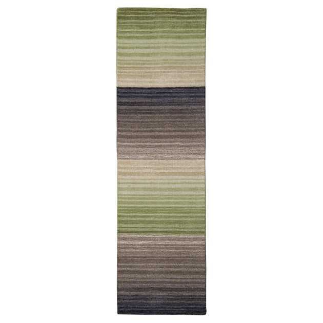 Miko Stripe Hall Runners in Green