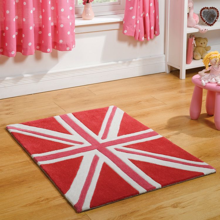 Patriot Mini Union Jack Rugs in Pink