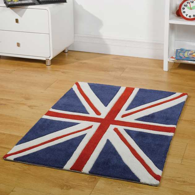 patriot mini union jack rugs in red white and blue free uk delivery the rug seller. Black Bedroom Furniture Sets. Home Design Ideas