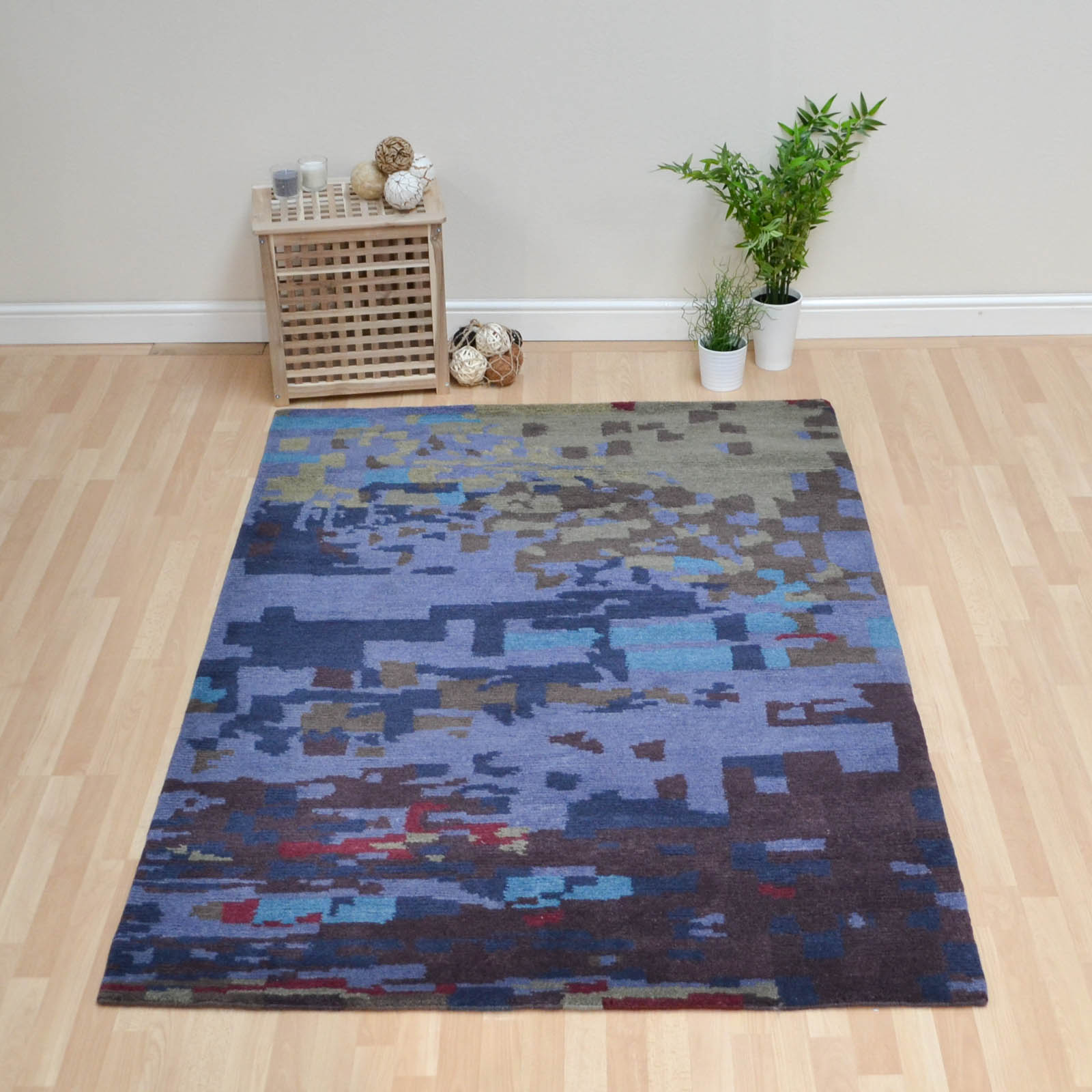Kodari Mist Rugs 34208 Blue Purple Hand Knotted Wool Rugs by Brink & Campman