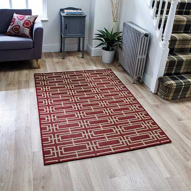 Moda Deco Rugs in Red