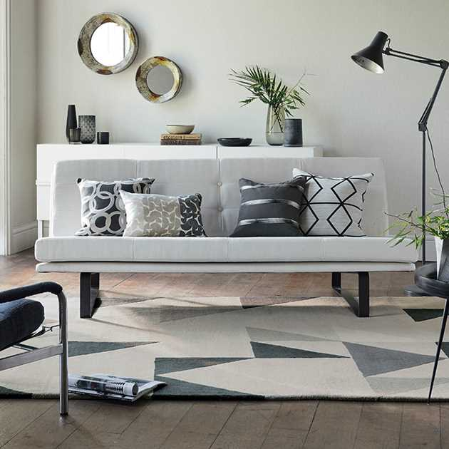 Modul Rugs 26704 in Charcoal by Scion