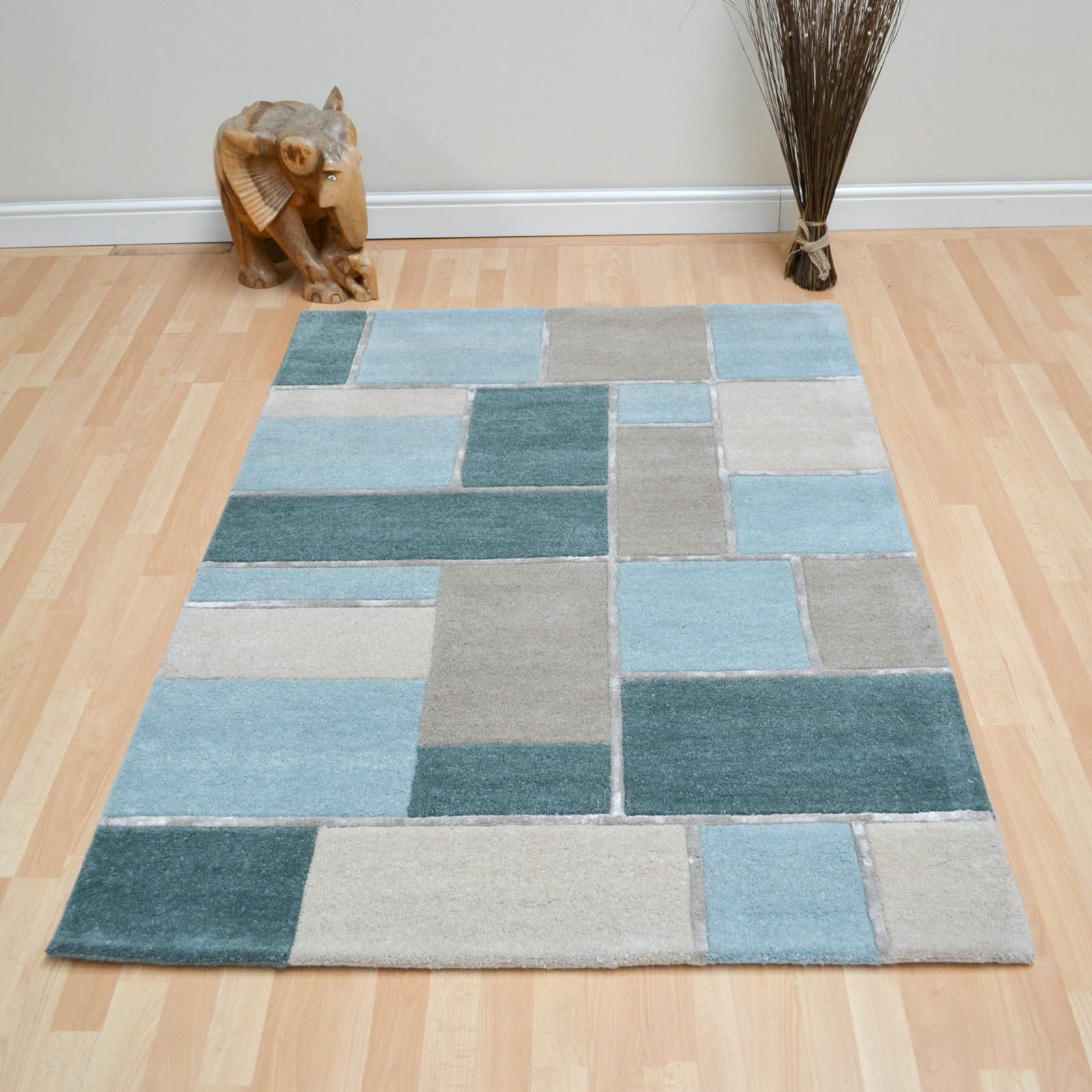 Mondrian Rugs in Aqua