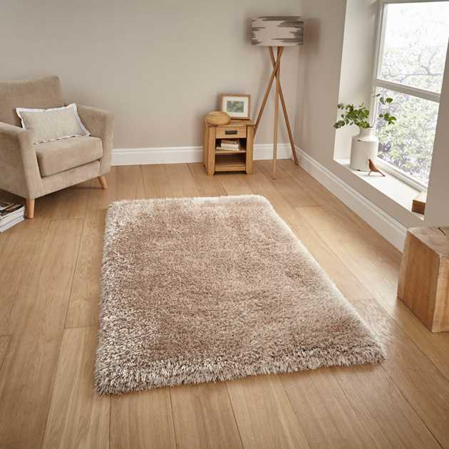 Montana Shaggy Rugs in Beige