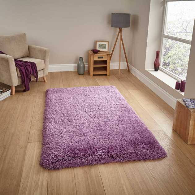 Montana Shaggy Rugs in Lilac