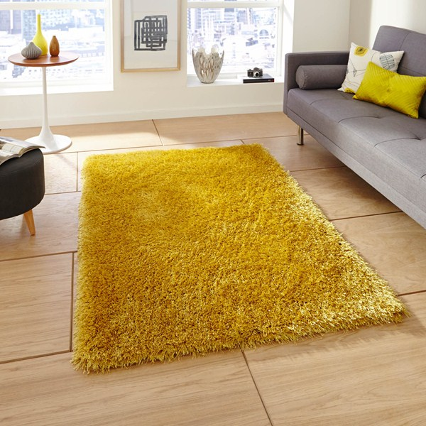 Yellow Shaggy Rug Uk: Monte Carlo Hand Made Shaggy Rugs In Yellow Buy Online