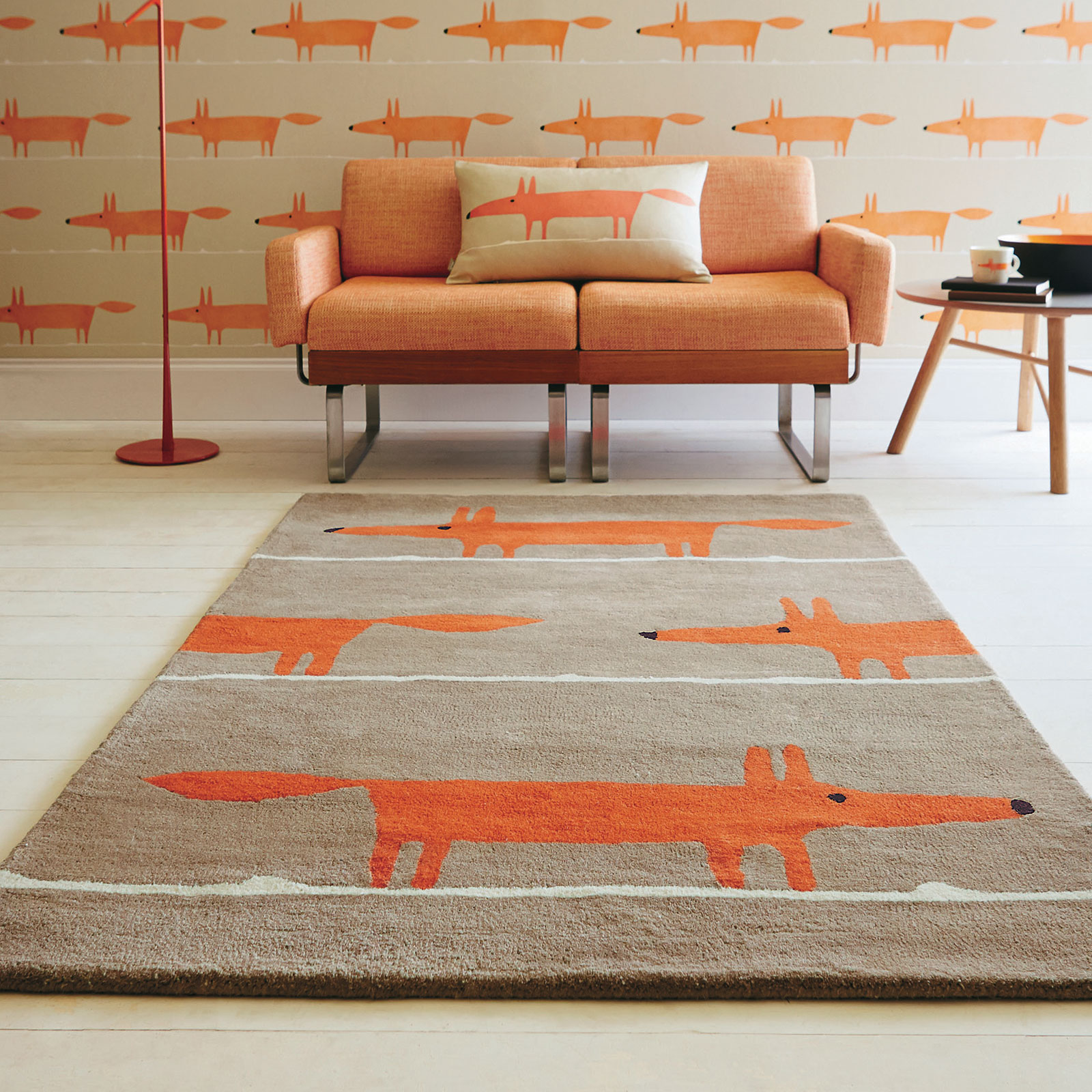 Scion Mr Fox Rugs 25303 Cinnamon Free Uk Delivery The