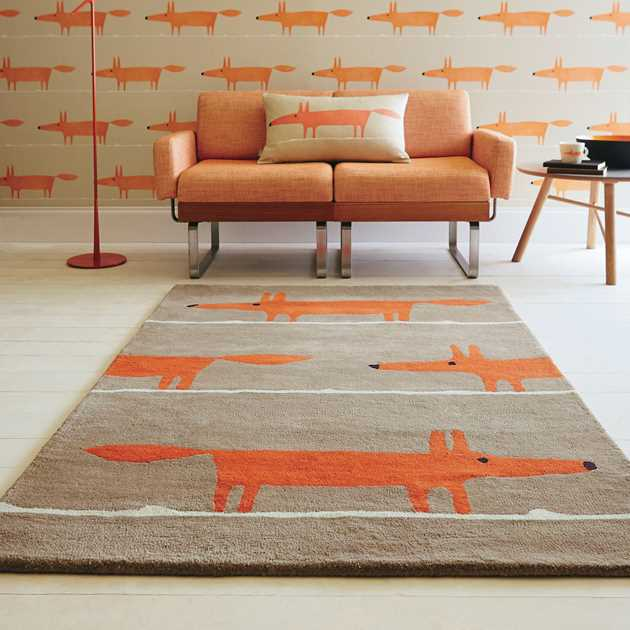 Scion Mr Fox Rugs 25303 Cinnamon
