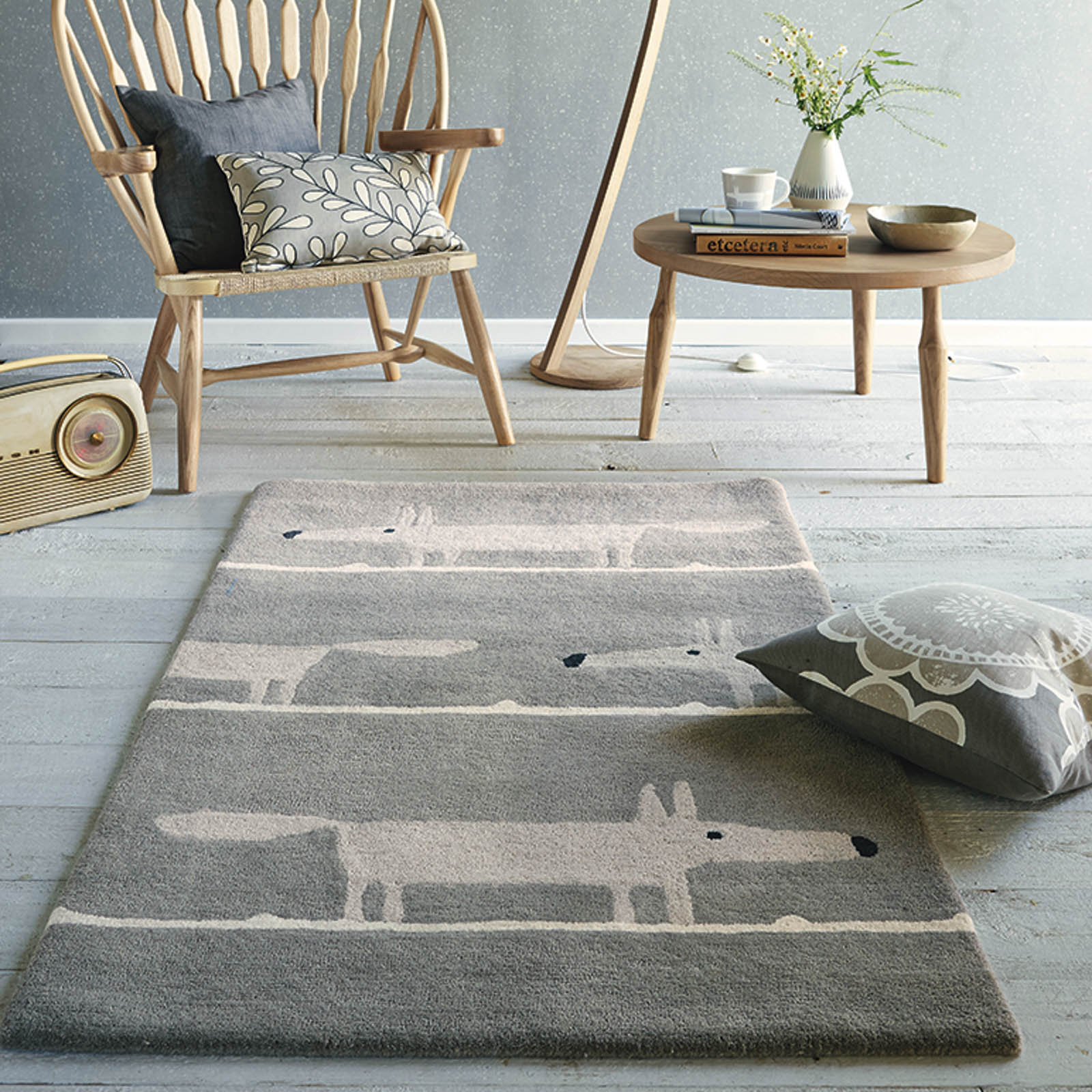 Mr Fox Rugs 25304 Silver by Scion