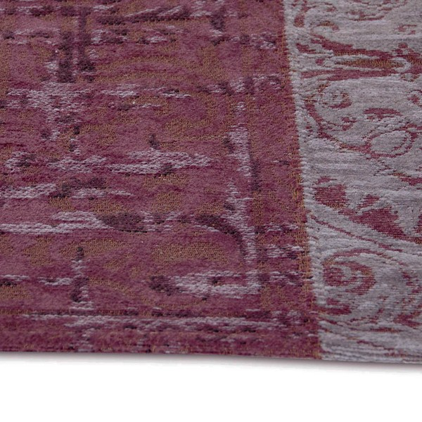 Vintage Rugs Multi 8008 In Pale Purple Free Uk Delivery