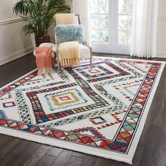 Navajo Rugs NAV02 in White by Nourison