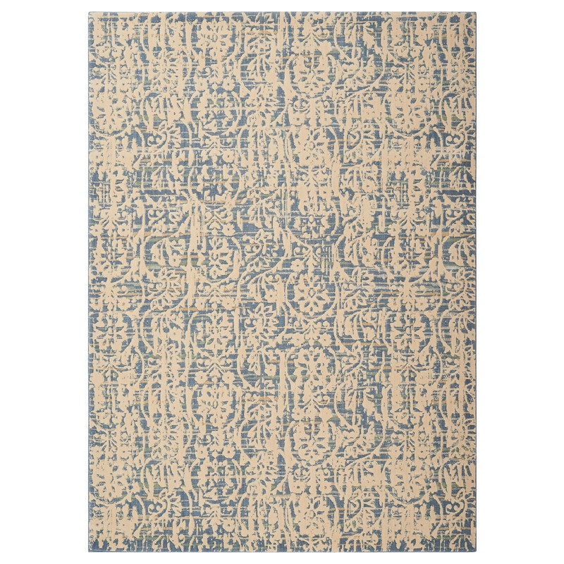 Nourison Nepal Rugs NEP11 In Ivory Blue Buy Online From