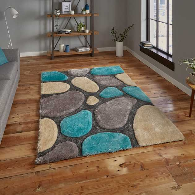 Noble House Rugs NH G1631 in Silver Blue