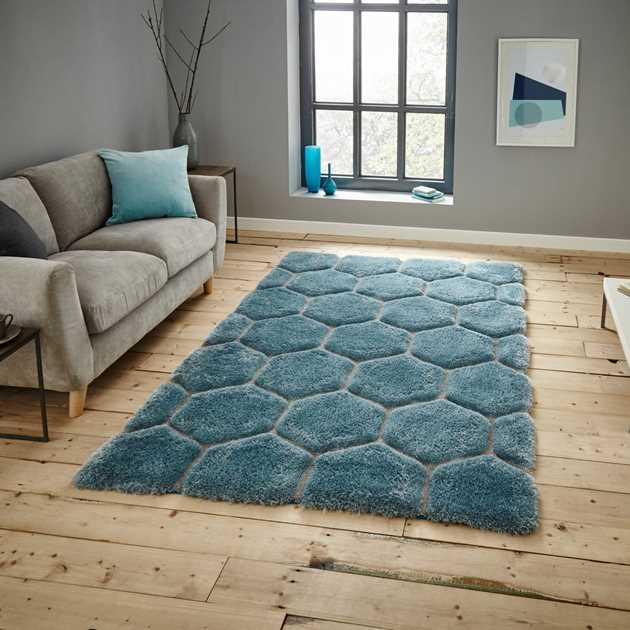 Noble House Rugs NH30782 in Blue and Grey