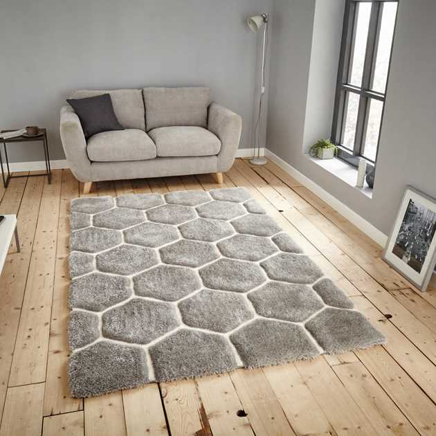 Noble House Rugs NH30782 in Grey and White