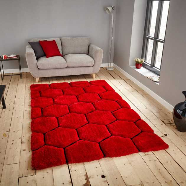 Noble House Rugs NH30782 in Red and Black