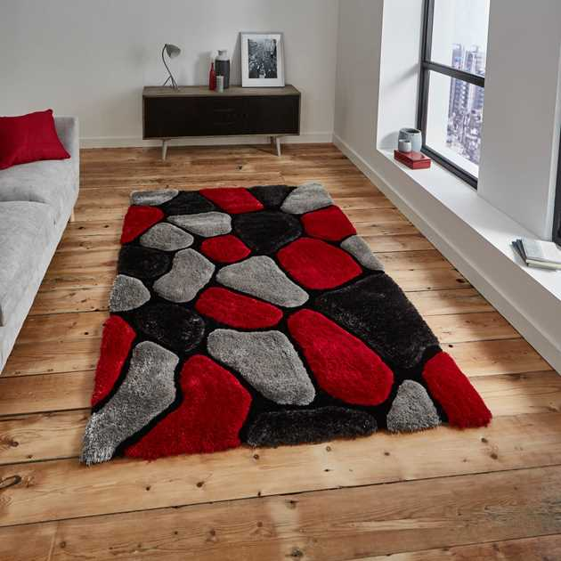 Noble House Rugs NH 5858 in Grey Red