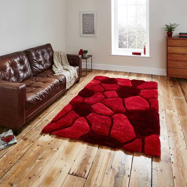 Noble House Rugs NH 5858 in Red - Free UK Delivery - The Rug Seller