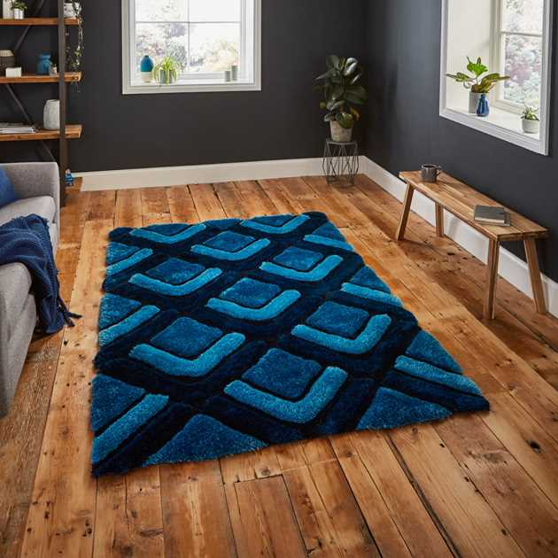 Noble House Rugs NH 8199 in Dark Blue