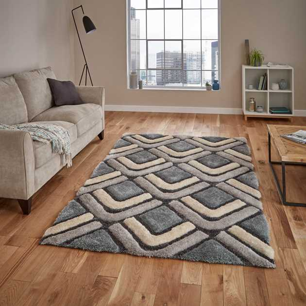 Noble House Rugs NH 8199 in Grey Blue - Free UK Delivery - The Rug ...